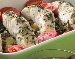 Prøv også Ovnsbakt sei med grønn saus.