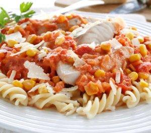 Prøv også Pasta med sei og tomatsaus.
