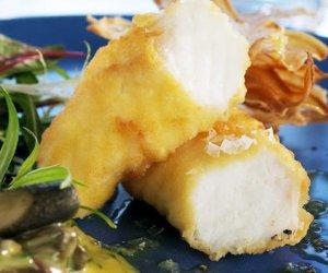 Prøv også Fish and chips med steinbit.