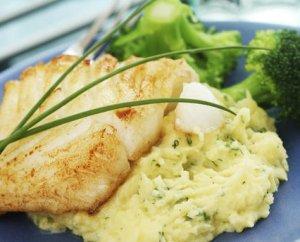 Prøv også Stekt torsk med potetmos.