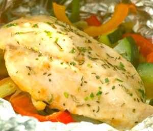 Prøv også Foliebakt kyllingfilet med grønnsaker.