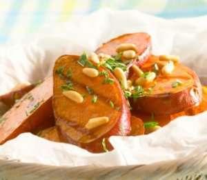 Prøv også Grillet søtpotet med pinjekjerner.