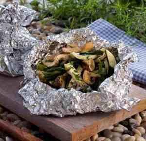 Grønnsakspakker oppskrift.