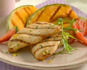 Prøv også Kalkunbiff med grillet frukt.