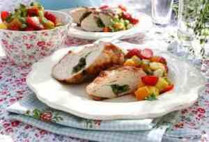 Prøv også Kyllingfilet med jordbær- og mangosalsa.