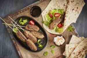 Pr�v ogs� Sis k�ftesi - tyrkisk kebab.