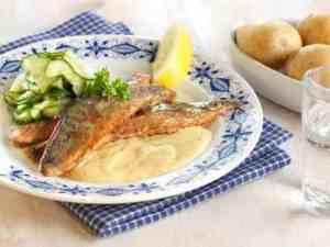Prøv også Stekt makrell med rømmesaus.