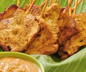 Les mer om Thai moo satay-svinesatay med peanøttsaus og salat hos oss.