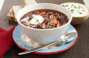 Prøv også Borsjtj, russisk rødbetesuppe.