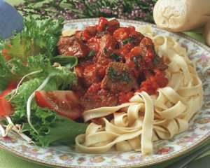 Prøv også Lam med tomatsaus og pasta.
