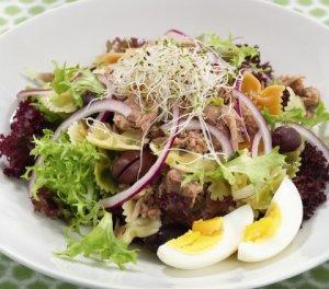 Prøv også Tunfisksalat med pasta og chilisaus.
