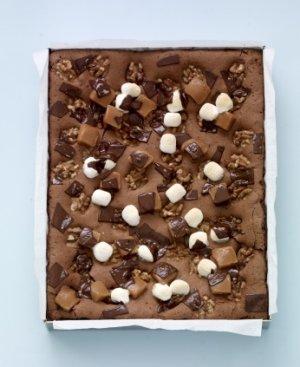Prøv også Brownies med karameller og marshmallows.