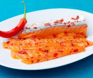 Prøv også Gravet laks med chili.