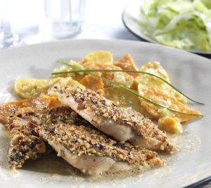 Prøv også Nøttepanert ishavsrøye med potet- og pepperrotgrateng.