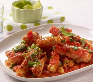 Bilde av Chilikongekrabbe med lime og koriander 1.