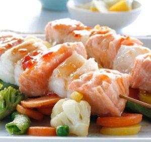 Prøv også Sweet chili marinerte fiskespyd.