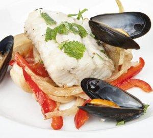 Prøv også Ovnsbakt sei med grønnsaker og blåskjell.