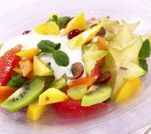 Prøv også Fruktsalat med vaniljekesam.
