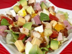 Prøv også Cobb salat.