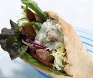 Prøv også Pitabrød med kylling og tzatziki.