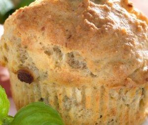 Prøv også Muffins med oliven og fetaost.