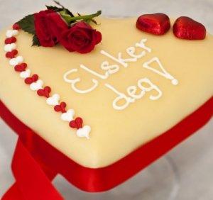 Prøv også Valentine kake.