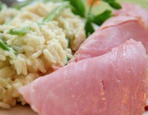 Prøv også Røkt skinke med rask risotto.