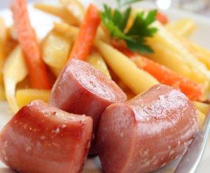Prøv også Vossakorv med honningglaserte rotgrønnsaker.