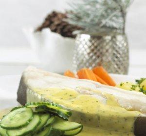 Prøv også Kokt kveite med agurksalat.