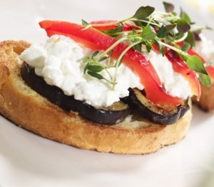Prøv også Bruchetta med aubergine.