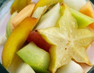 Prøv også Fruktsalat med syrnet melk.