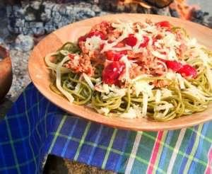 Prøv også Pasta bolognese på tur.