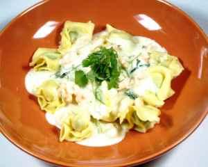 Prøv også Pasta med reker eller skinke.