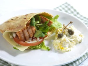 Prøv også Pitabrød med grillet laks.