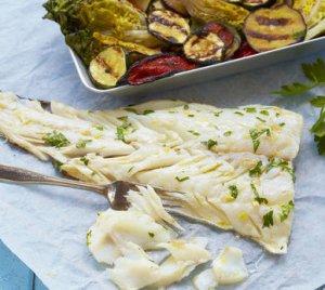 Prøv også Grillet lettsaltet torsk med grønnsaker.