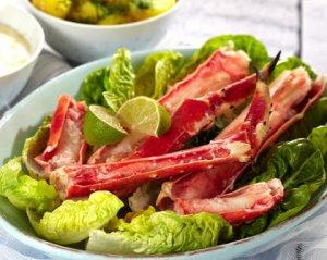 Prøv også Kongekrabbe med potetsalat og potetaïoli.