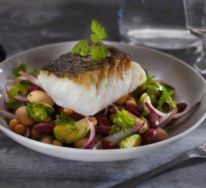 Prøv også Stekt torsk med bønnesalat.