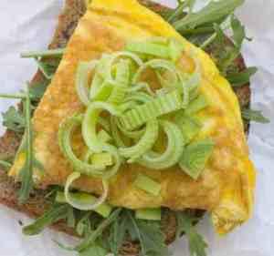 Prøv også Omelett med ruccula og purreløk.