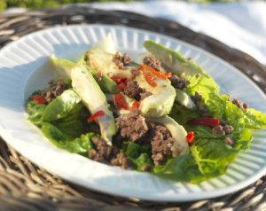 Prøv også Smakfull salat med kyllingkjøttdeig.