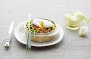 Prøv også Posjert egg med linser.