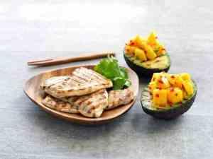 Prøv også Grillet skinkebiff med fylt avokado.