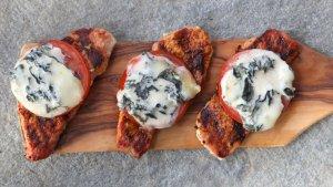 Prøv også Grillet skinkebiff med blåmuggost og tomat.
