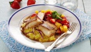 Prøv også Stekt seifilet med jordbær- og mangosalat.
