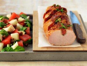 Prøv også Helstekt ytrefilet av svin med chorizo og rosmarin.