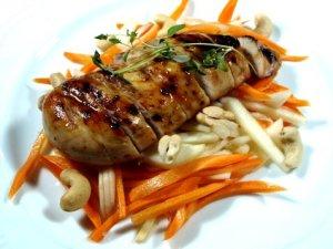 Prøv også Sitron-grillet kyllingfilet med gulrot og ingefær.