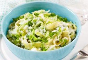 Prøv også Kremet nykålsalat med tagliatelle.