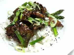 Prøv også Bulgogi koreansk marinert biff.