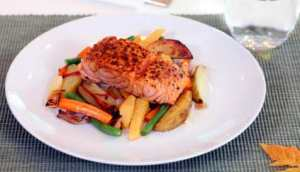 Prøv også Ovnsbakte grønnsaker med stekt laks.