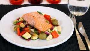 Prøv også Bakt ørret med grønnsaker.