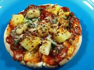 Prøv også Pitapizza med ananas.